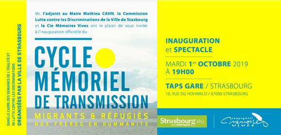 – STRASBOURG – Cycle Mémoriel de Transmission 2019