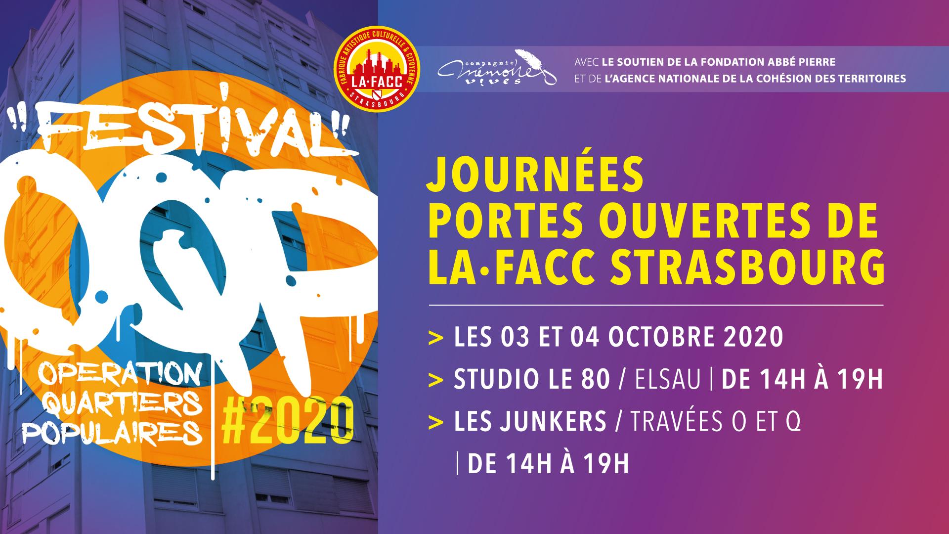 Festival O.Q.P 2020 • Journées portes ouvertes de la FACC Strasbourg @ FACC Strasbourg