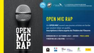 OPEN MIC RAP - Festival OQP 2021 • Marseille @ Théâtre de L'Oeuvre