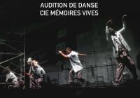 Audition de danse pour la prochaine création de la Compagnie Mémoires Vives