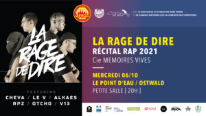 Festival OQP 2021 - La Rage de Dire @ Théâtre du Point d'Eau